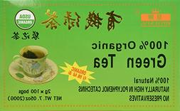 China Green Tea 100 Tea Bags, Organic