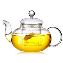 Beylor Clear Glass Teapot Heat Resistant Teapots 1000 ml /33