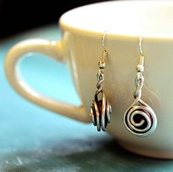 Handmade Coffee Bean Earrings for Women | Coffee Jewelry Gif