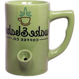 Coffee Tea Mug / Cup with Built in Pipe / Smoke / Smoking /