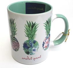 Tommy Bahama Coffee Tea Mug Pineapple White Green Ceramic Cu