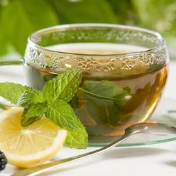 Decaf Peppermint Gourmet Flavor Loose Leaf Tea Black or Gree