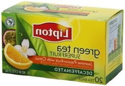 Lipton Decaffeinated Green Tea, Superfruit Jasmine Passionfr