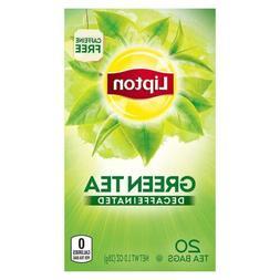 Lipton Decaffeinated Green Tea Bags, 20 ct