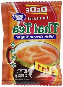 DEDE Instant Thai Tea Drink with Cream and Sugar - 12 Pocket