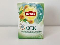 LIPTON DETOX Herbal Green Tea with Natural Essential Oils.