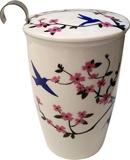 Double Wall Ceramic Tea Cup with Infuser & Lid - Perfect sin