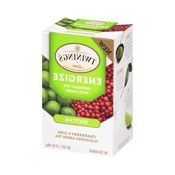 energize matcha cranberry and lime green tea