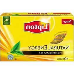 Lipton Natural Energy Premium Black Tea, 40 ct