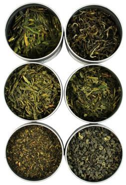 NEW Exotic And Rare Green Tea Loose Leaf Tea Sampler 6 Varie