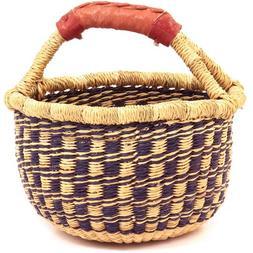 "Fair Trade Ghana Bolga African Mini Market Basket 7-9"" Acros"
