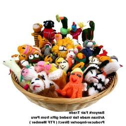 Sanyork Fairly Traded Finger Puppets Set of 10 Assortment Bi