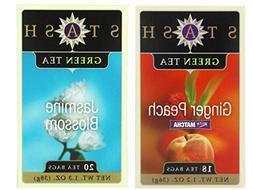 Stash Flavored Green Teas 2 Flavor Variety Bundle:  Stash Gi