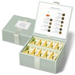 Tea Forté Tea Chest Green Tea Assortment with 40 Handcrafte