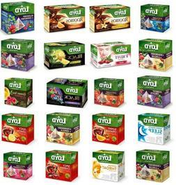 Loyd Tea Fruit Flavored, Herbal, Green, Red 20 Silk Teabags