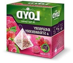 Loyd Fruit Tea Raspberry & Strawberry Flavored, 20 teabags