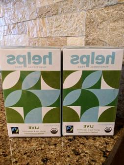 Helps Functional Teas, Live, NEW in cellophane, TWO boxes, G