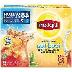 Lipton Gallon Family Sized Black Iced Tea Unsweetened Tea Ba