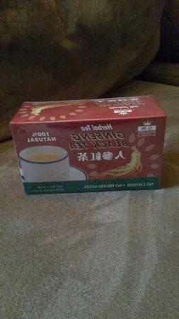 Royal King Ginseng Black Tea All Natural Herbal 60 bags 4.2