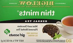 Bigelow Girl Scout Thin Mint Cookie Flavor Herbal Tea, 1 Box