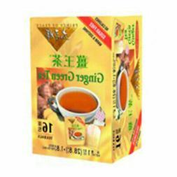 Prince Gold Tea, Ginger Green, 16 Tea Bags