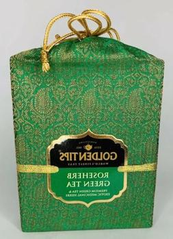 Golden Tips Rose Herb Green Tea Brocade Bag, 100g Luxury I00