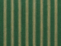 Green & Tea Dye Homespun Ticking Fabric | Primitive Green St