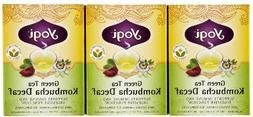 Yogi Tea Green Tea Kombucha Decaf, Herbal Supplement, Tea Ba