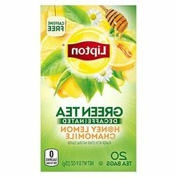 Lipton Green Tea Bags Decaffeinated Honey Lemon Chamomile, 2