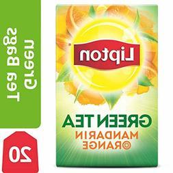 Lipton Green Tea Bags, Mandarin Orange, 20 ct  New Fast Free