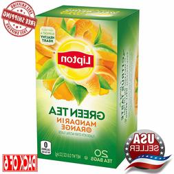 Lipton Green Tea Bags, Mandarin Orange, 20 ct  Free Shipping