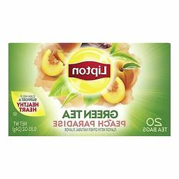 Lipton Green Tea Bags, Peach Paradise, 20 ct, Pack of 6