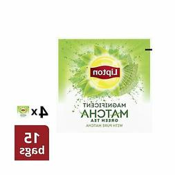 Lipton Green Tea Bags, Pure Matcha, 15 ct, Pack of 4 Green T