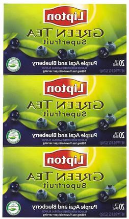 Lipton Green Tea Bags, Superfruit, Purple Acai & Blueberry,