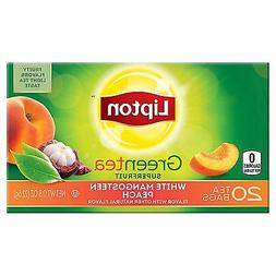green tea bags white mangosteen peach 20