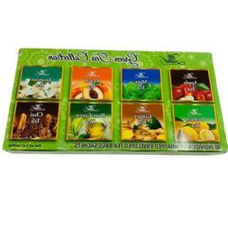 Tea Land Green Tea Collection 8 Flavors 40 Individually Wrap