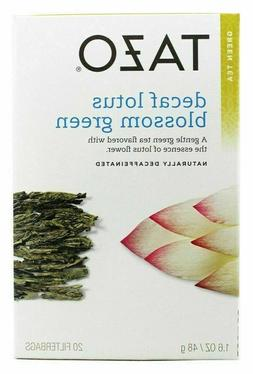 TAZO GREEN TEA Decaffeinated LOTUS BLOSSOM - 20 Tea Bags NEW
