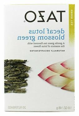 TAZO GREEN TEA Decaffeinated LOTUS BLOSSOM - 20 Tea Bags NEW