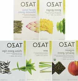 Tazo Green Tea Energizing 5 Flavor Variety Pack Sampler 5 Pa