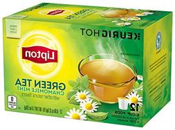 Lipton Green Tea K Cups, Chamomile Mint, 1.0 oz, 12 Count
