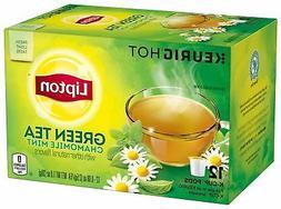 Lipton Green Tea K Cups, Chamomile Mint, 1.0 oz, 12 Count