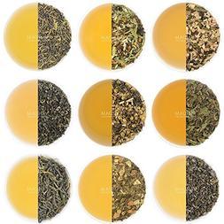 Green Tea Sampler - 10 TEAS, 50 SERVINGS | 100% NATURAL INGR