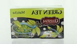 2 Celestial Seasonings Green Tea, Matcha, 20 Count ea, Exp.