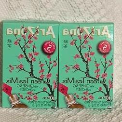 AriZona Green Tea Mix with Ginseng & Honey Stix 2 Boxes of 1