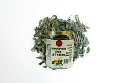 Green tea mix with Peppermint flakes and lemon pieces guaran
