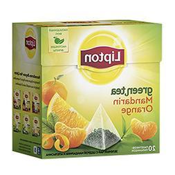 Lipton Green Tea Pyramids, Mandarin Orange, 20 bags
