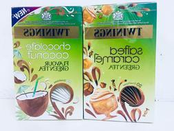 TWININGS Green Tea Salted Caramel / Chocolate Coconut 20's T