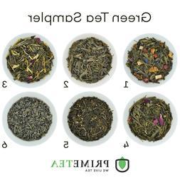 GREEN TEA SAMPLER Loose Leaf Vegan Natural Flavors 6oz Total