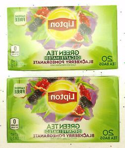 Lipton  Green Tea Superfruit, Decaffeinated Blackberry Pomeg