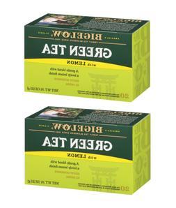 Bigelow Green Tea with Lemon - 2 Boxes - 40 Tea Bags
